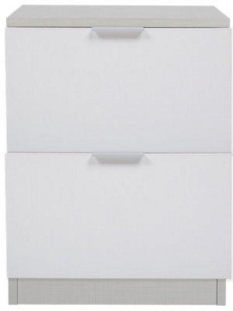 Oferta de Cajonera Spaceo roble gris y blanco 53X40X50cm por 43,98€
