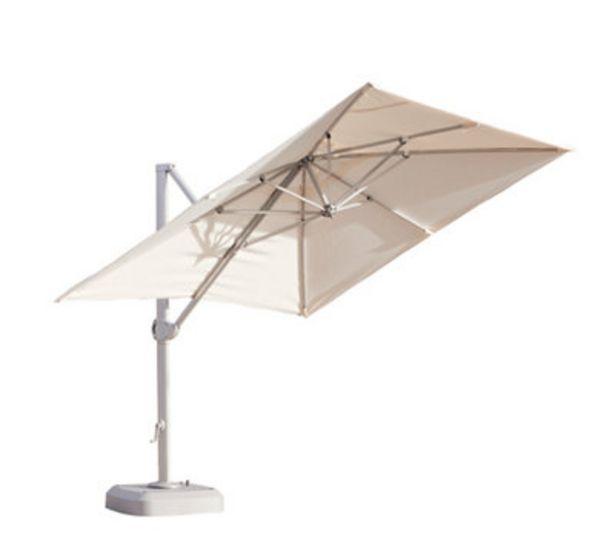 Oferta de Parasol ITALIA 350x350 cm beige + pie rellenable por 389€