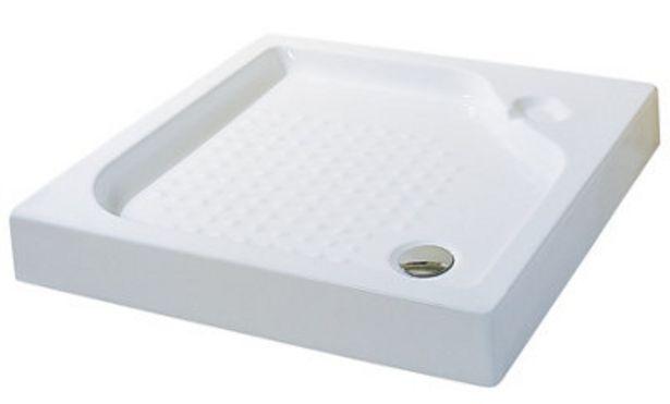 Oferta de Plato ducha cuadrado GRAND RECTO 12x90x90 cm por 49,9€