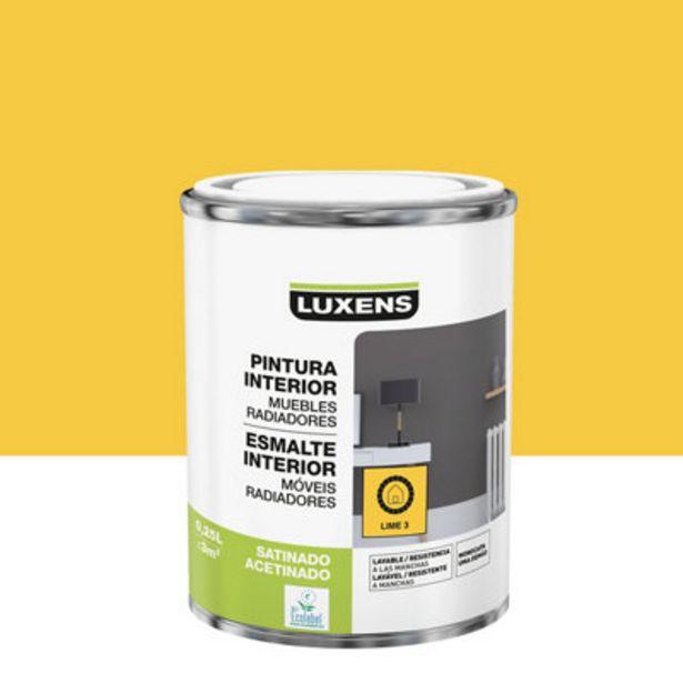 Oferta de Esmalte de interior LUXENS lime 3 satinado 0,25L por 2,7€