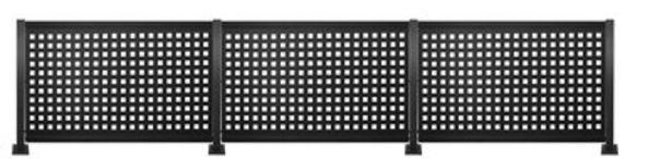 Oferta de Kit valla de acero galvanizado CUADROS NEGRO 456x100x13 cm por 359€