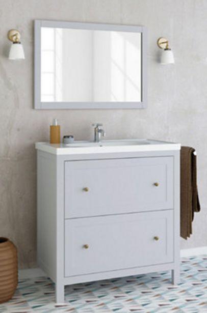 Oferta de Conjunto de mueble de baño CHARM GRIS  80 cm por 253,59€