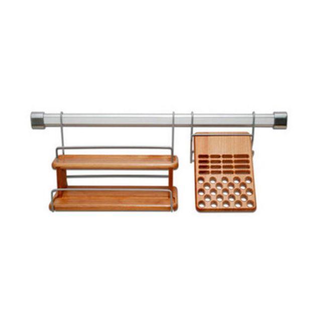 Oferta de Escurreplatos de madera de 60 cm con 1 nivel por 16,69€