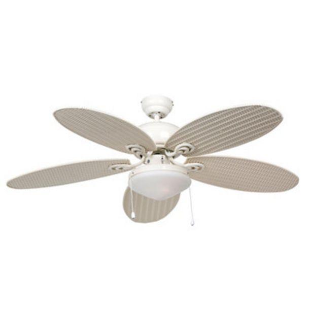 Oferta de Ventilador de techo con luz LED INSPIRE TOUREILLO 132 cm de Ø por 68,5€