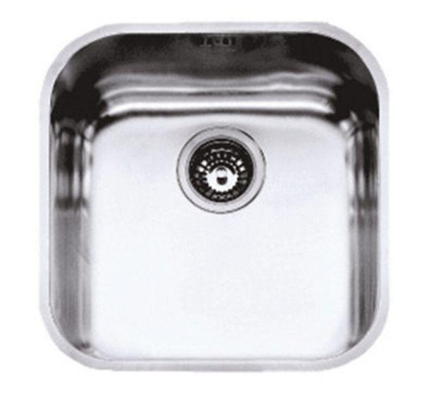 Oferta de Fregadero de acero inox cuadrado MEPAMSA Stilo 40 x 40 cm por 55,1€