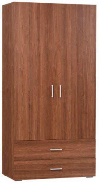 Oferta de Armario ropero puerta abatible One Nogal 100x200x50 cm por 115,99€