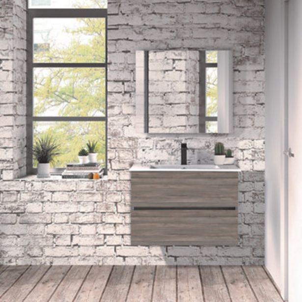 Oferta de Mueble de baño con lavabo Belice  70x45 cm por 155€