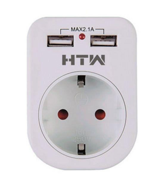 Oferta de Adaptador enchufe USB por 6,95€