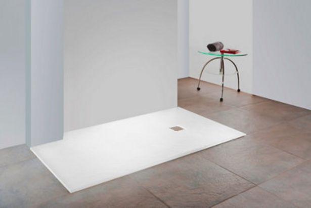 Oferta de Plato de ducha Mineral 120x80 cm blanco por 176,4€