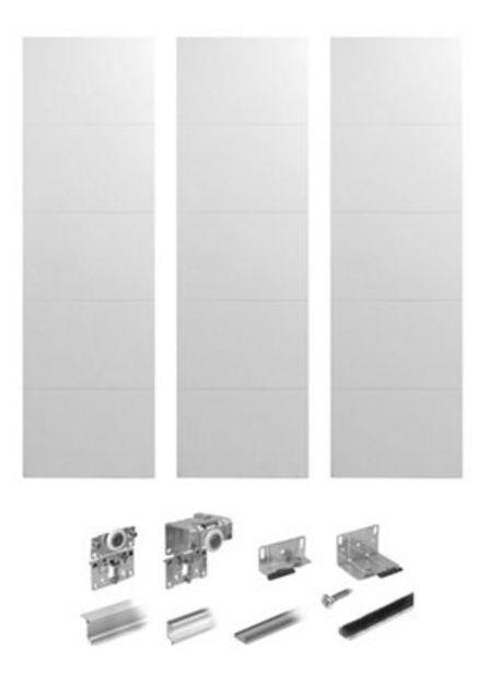 Oferta de Kit 3 puertas correderas Spaceo Lucerna blanco 236X180cm por 179,96€