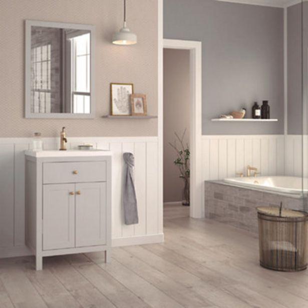 Oferta de Conjunto de mueble de baño CHARM GRIS 60 cm por 203,4€