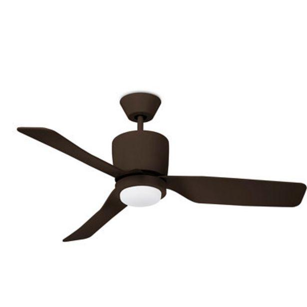 Oferta de Ventilador de techo con luz Vera marrón 117.7 cm motor AC por 122,9€