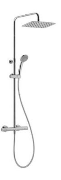 Oferta de Columna ducha termostático HUBER Levity Urban gris por 215€