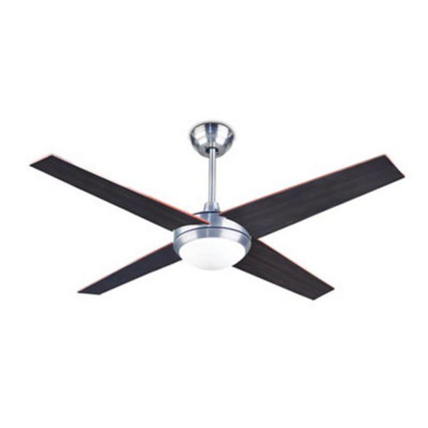 Oferta de Ventilador de techo con luz . plata 132 cm motor AC por 139,9€