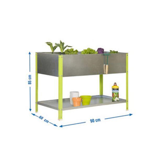 Oferta de Huerto urbano metálico verde 140L 90x85x60 cm por 77,9€