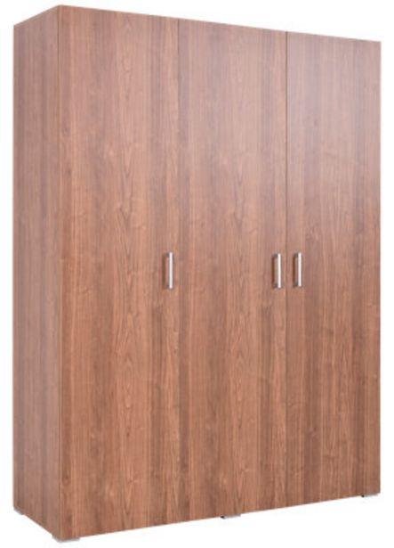 Oferta de Armario ropero puerta abatible One Nogal 150x200x50 cm por 132€