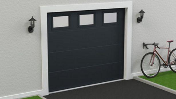 Oferta de Puerta de garaje SPACE gris de 212,5x250 cm por 705€