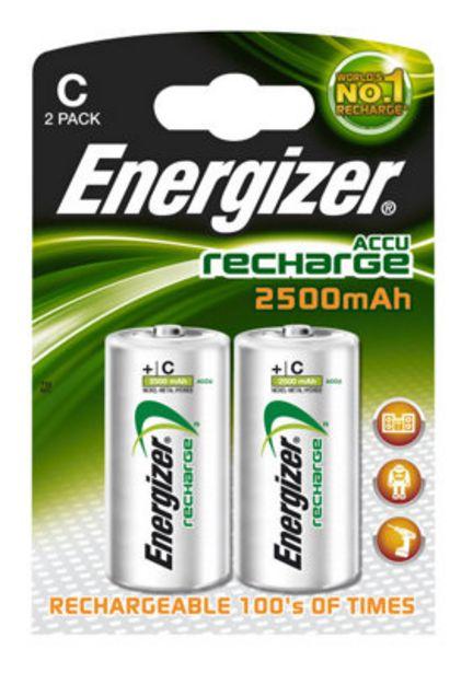 Oferta de Pack de 2 pilas recargables ENERGIZER LR14 C de 2200 mAh por 8,85€