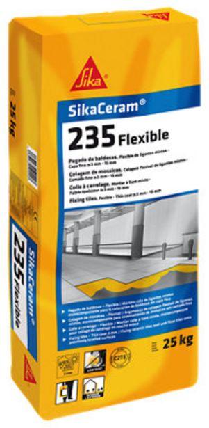 Oferta de Mortero cola Sika-Ceram 235 Flexible blanco 25 kg por 17,2€