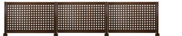 Oferta de Kit valla de acero galvanizado CUADROS MARRÓN 456x100x13 cm por 359€
