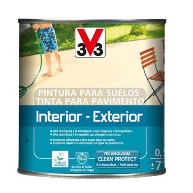 Oferta de Pintura para suelos V33 verde 0,5L por 10€