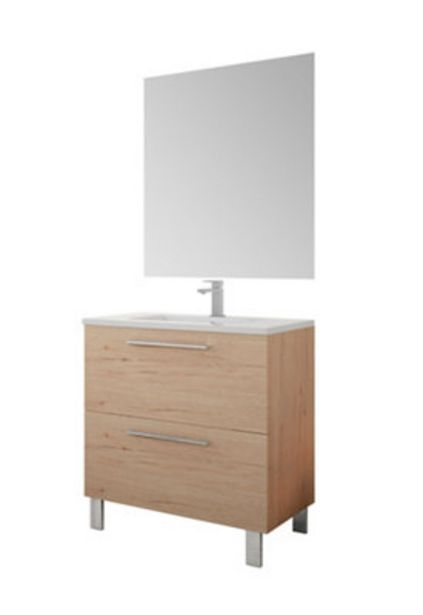Oferta de Conjunto de baño AIDA ROBLE 80 CM por 233€
