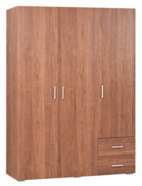 Oferta de Armario ropero puerta abatible One Nogal 150x200x50 cm por 149,25€
