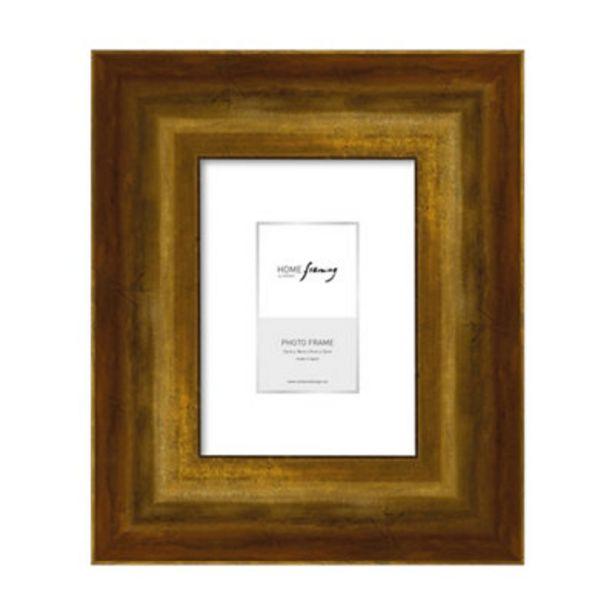 Oferta de Pack 4 portafoto oro 13x18 cm por 26,6€