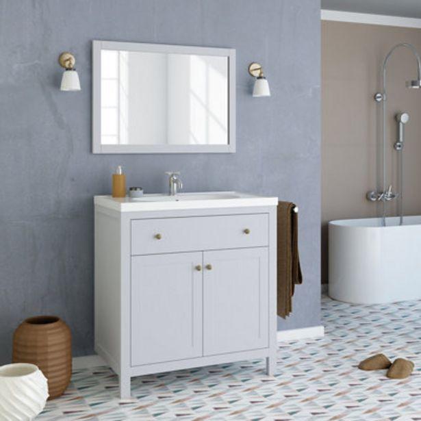 Oferta de Conjunto de mueble de baño CHARM GRIS 80 cm por 264,39€