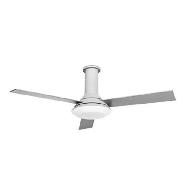Oferta de Ventilador de techo con luz Fus plata 132 cm motor AC por 164,3€