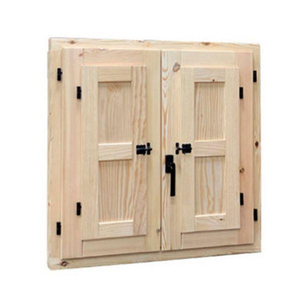 Oferta de Ventana de madera practicable de 120x120 cm por 165€
