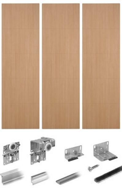 Oferta de Kit 3 puertas correderas Spaceo Lucerna acabado roble 236X180cm por 179,96€