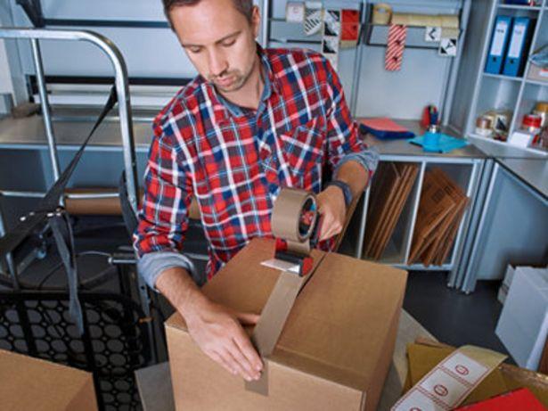 Oferta de Pack 2 cintas embalar marrón 20mmx25m + dispensador por 5€