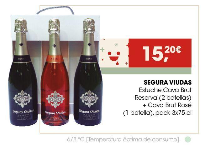 Oferta de SEGURA VIUDAS Estuche Cava Brut Reserva + Cava Brut Rosé  por 15,2€