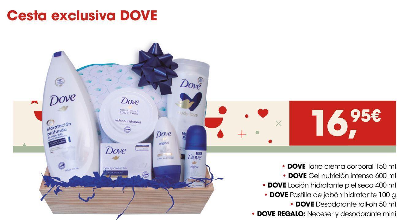 Oferta de Cesta exclusiva DOVE por 16,95€