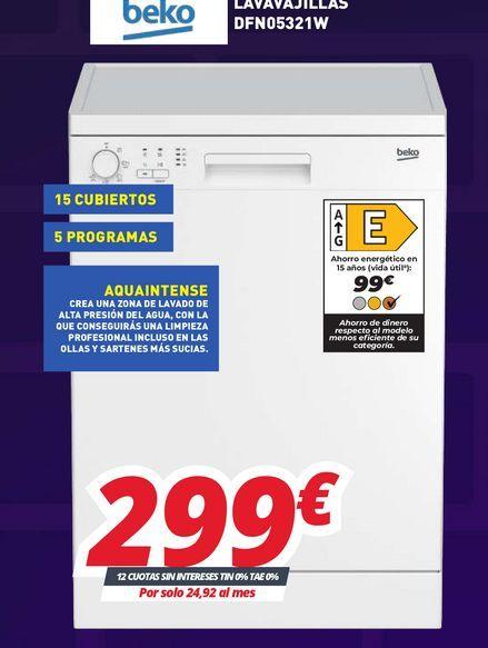 Oferta de Lavadoras Beko por 299€