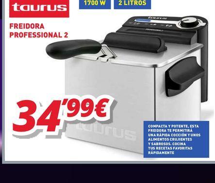 Oferta de Freidora eléctrica Taurus por 34,99€