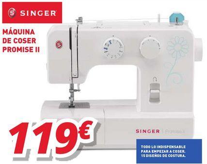 Oferta de Máquina de coser Singer por 119€