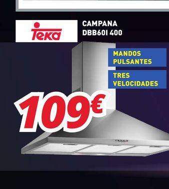 Oferta de Campana extractora Teka por 109€