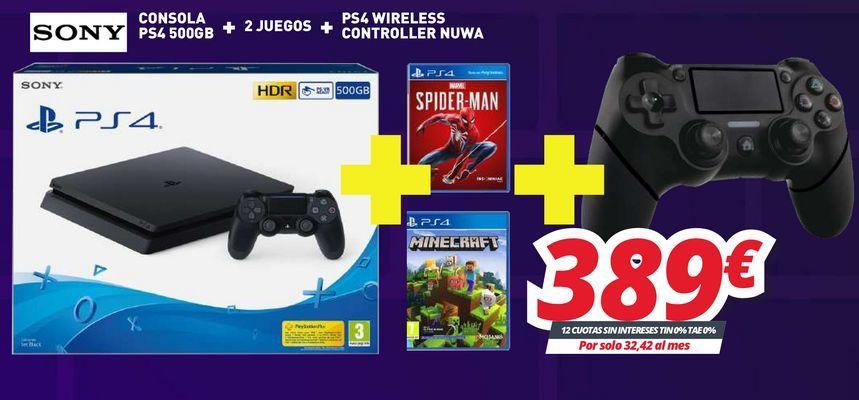 Oferta de Consolas Sony por 389€