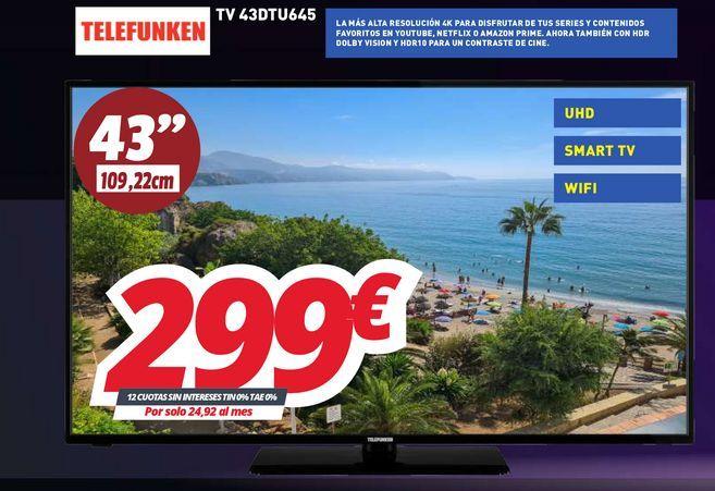 Oferta de Smart tv Telefunken por 299€