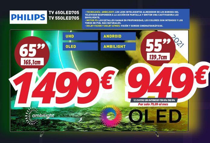 Oferta de Tv led Philips por 1499€