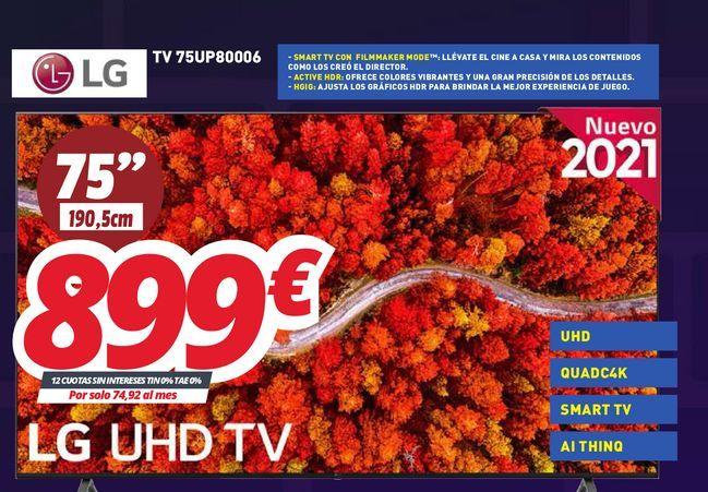 Oferta de Smart tv LG por 899€
