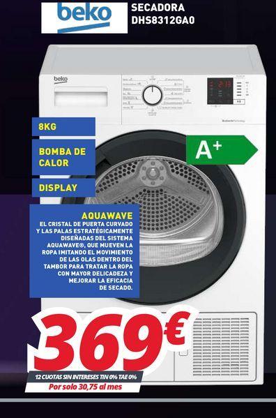 Oferta de Lavadoras Beko por 369€
