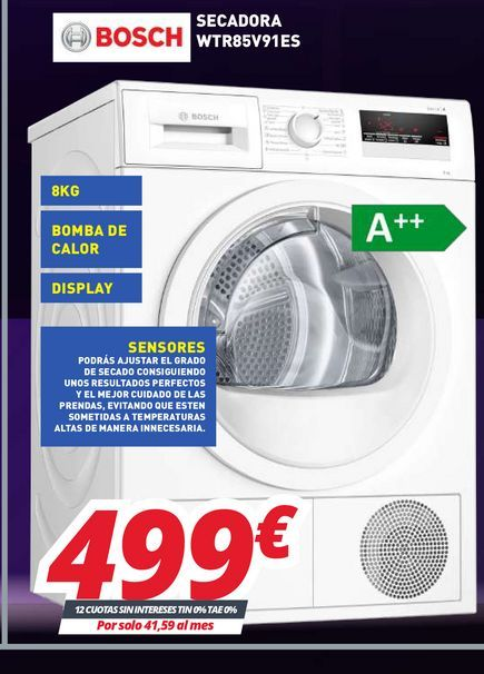 Oferta de Lavadoras Bosch por 499€