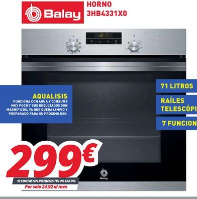 Oferta de Hornos Balay por 299€