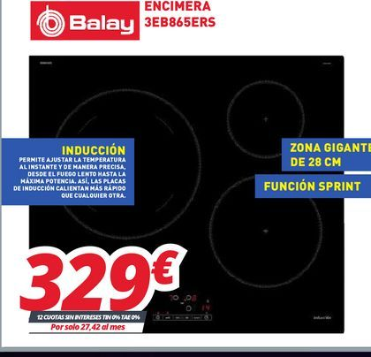 Oferta de Encimera de cocina Balay por 329€