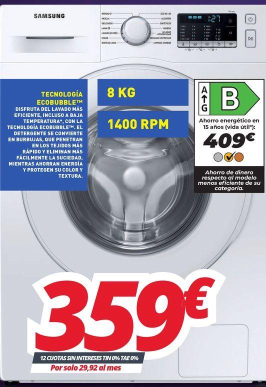 Oferta de Lavadora Samsung por 359€
