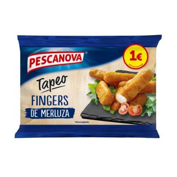 Oferta de Fingers de merluza rebozada, 200g por 1€