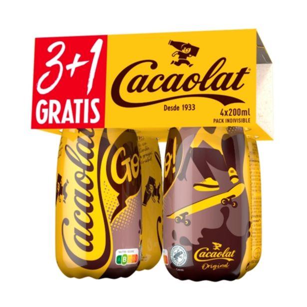 Oferta de Batido cacao 200 ml, pk-4 por 1,99€